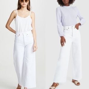 RE/DONE 26 White 60S EXTREME WIDE LEG JEANS